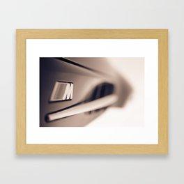 M power Framed Art Print