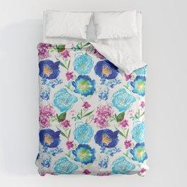watercolor bloom Bettbezug