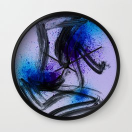 Japanese Style Abstract on Lavender Wall Clock