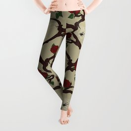 Woodland Heart and spider web Leggings