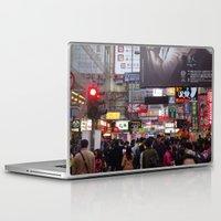 hong kong Laptop & iPad Skins featuring Hong Kong  by ENGINEMAN - JOSEPHAMT