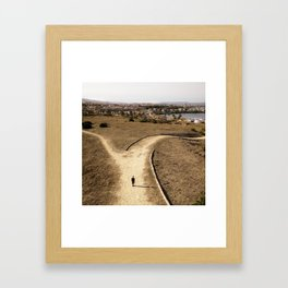 Decision at Forked Path Framed Art Print
