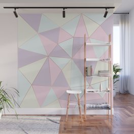 Pastel colors modern geometric triangles pattern Wall Mural
