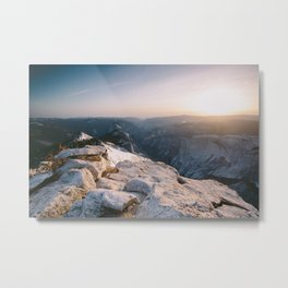 Clouds Rest Sunset Metal Print