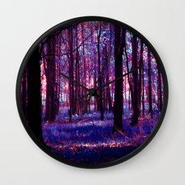 purple forest Wall Clock