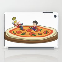 soccer iPad Cases featuring Soccer pizza by flydesign