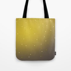 mustard speckles ombre Tote Bag