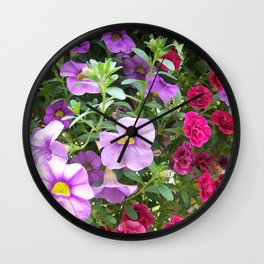 Petunias Wall Clock