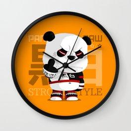 Panda Paw Paw (Strong Style) Wall Clock