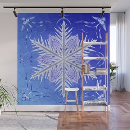 Snowflake Pattern - Bladed Sky Wall Mural