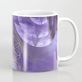 Mystical Flower of Life Amethyst #society6 Coffee Mug