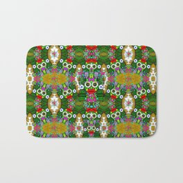 sugarskulls flower girls and love pop art Bath Mat