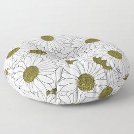 Daisy Yellow Floor Pillow