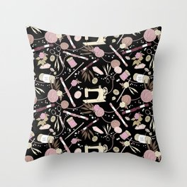 Stitch Witch (Rose) Throw Pillow