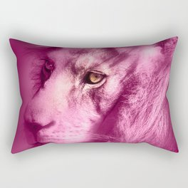 Fantasy Lion of Legend in Pink Rectangular Pillow