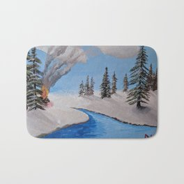 Fire by the Creek Bath Mat