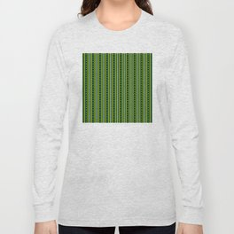 Stripes Pattern 204 (green yellow stripes) Long Sleeve T-shirt