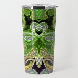 Green Lotus Large Travel Mug