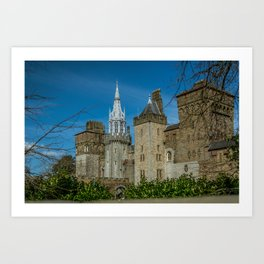 Cardiff Castle Main Range Exterior Wales Medieval, Art Print