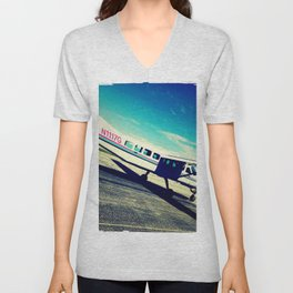 leaving on a jet plane Unisex V-Neck