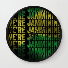 Jamming | Jamaican reggae  music lovers gift | Jamaica flag Wall Clock