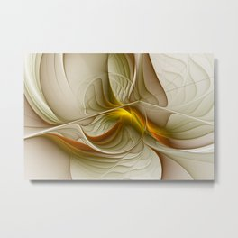 Abstract With Colors Of Precious Metals, Fractal Art Metal Print