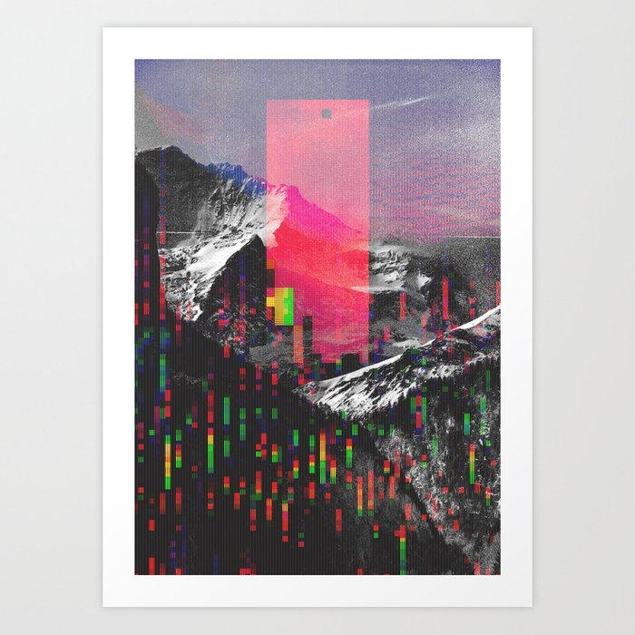 Discover the motif MOUNTAIN GLITCH II by Andreas Lie as a print at TOPPOSTER