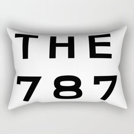 787 Puerto Rico Area Code Typography Rectangular Pillow