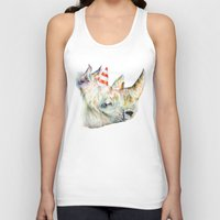 party Tank Tops featuring Rhino's Party by Brandon Keehner