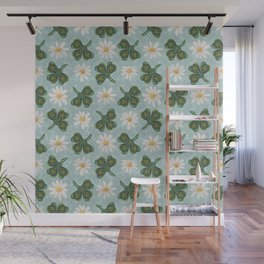 Clovers and Daisies Wall Mural