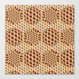 Geodesic Asanoha (Wooden) Canvas Print