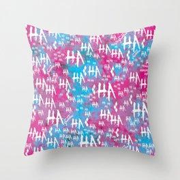 Harley Quinn: HA HA HA [Alternate] Throw Pillow