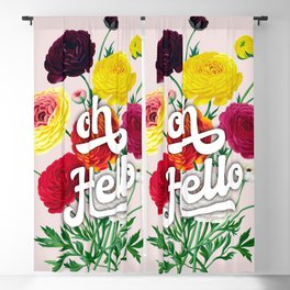 oh Hello vintage spring flowers Blackout Curtain