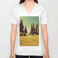 breathe V-neck T-shirts featuring Breathe by ARTbyJWP