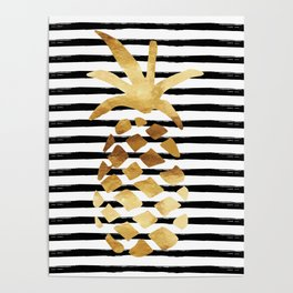 Pineapple & Stripes Poster