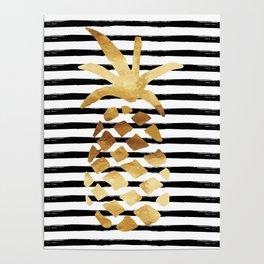 Pineapple & Stripes Poster