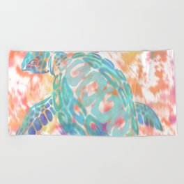 Turtle Pink Beach Towel