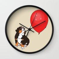 balloon Wall Clocks featuring Balloon by Meredith Mackworth-Praed