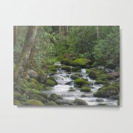 Smoky Falls Metal Print