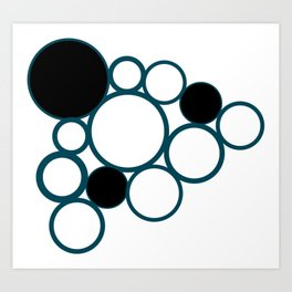 black and green circles Art Print