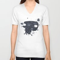 karma V-neck T-shirts featuring Karma by tipa graphic