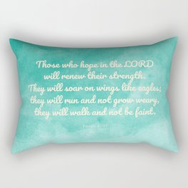 Hope in the Lord Bible Verse, Isaiah 40:31 Rectangular Pillow