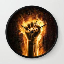 Fire fist Wall Clock