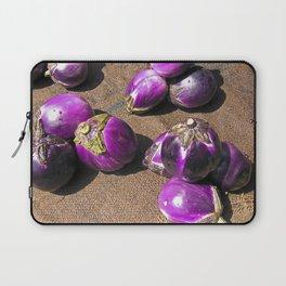 Fresh Aubergines - Market - Sicily Laptop Sleeve