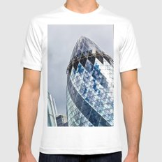 Gherkin Building abstract Mens Fitted Tee White SMALL