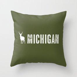 Deer: Michigan Throw Pillow