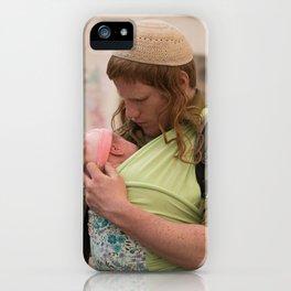 A Soldier & His Baby (Landscape Orientation) iPhone Case