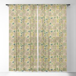 Cheerful pattern. Sheer Curtain