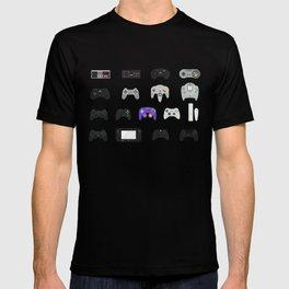 Controller Evolution (Nintendo, Sega, Playstation, Xbox)  T-shirt