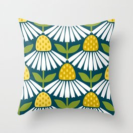 the daisies greet you Throw Pillow
